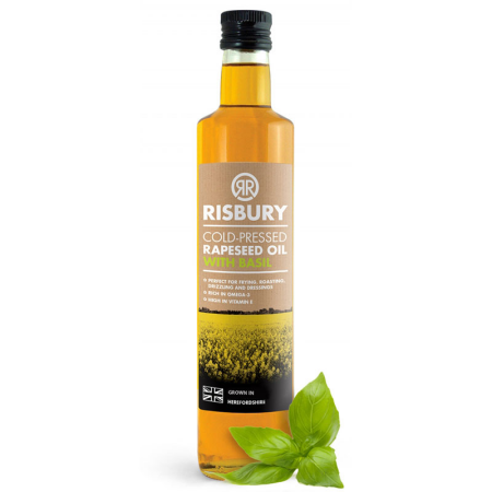 RISBURY COLD-PRESSED RAPESEED OIL WITH BASIL - 250ml