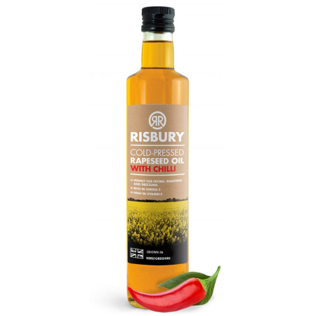 RISBURY COLD-PRESSED RAPESEED OIL WITH CHILLI - 250ml