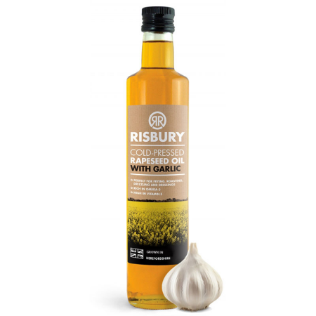 RISBURY COLD-PRESSED RAPESEED OIL WITH GARLIC - 250ml