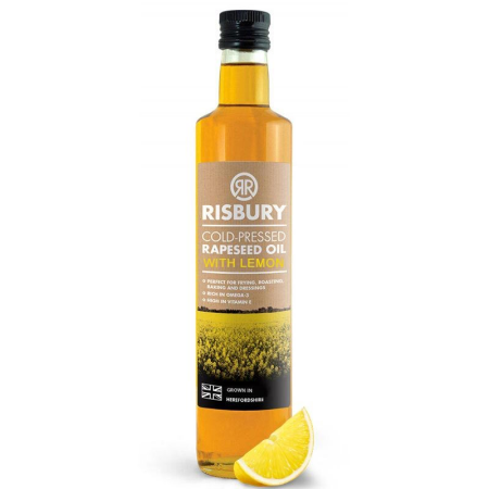 RISBURY COLD-PRESSED RAPESEED OIL WITH LEMON - 250ml