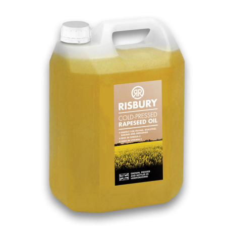 RISBURY NATURAL COLD-PRESSED RAPESEED OIL - 5L
