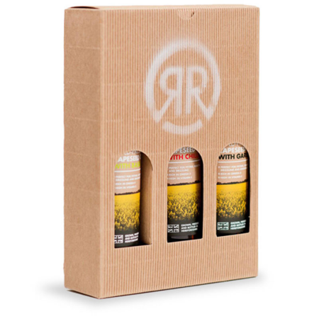 RISBURY COLD PRESSED-RAPESEED OIL 3 BOTTLE GIFT BOX