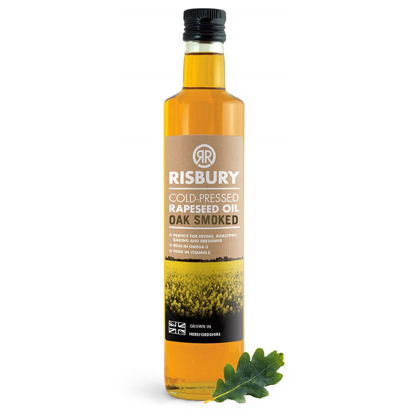 RISBURY COLD-PRESSED RAPESEED OIL OAK SMOKED - 250ml