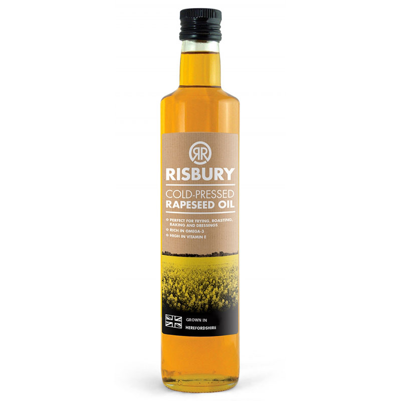 RISBURY NATURAL COLD-PRESSED RAPESEED OIL - 500ml
